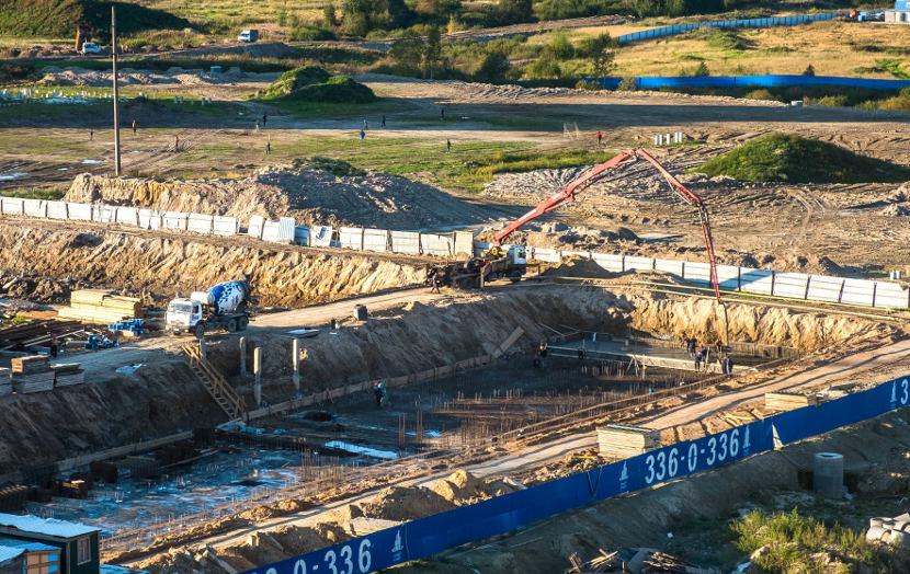 Строительная площадка ЖК «Три кита» -  третья очередь 11 сентября 2015 года