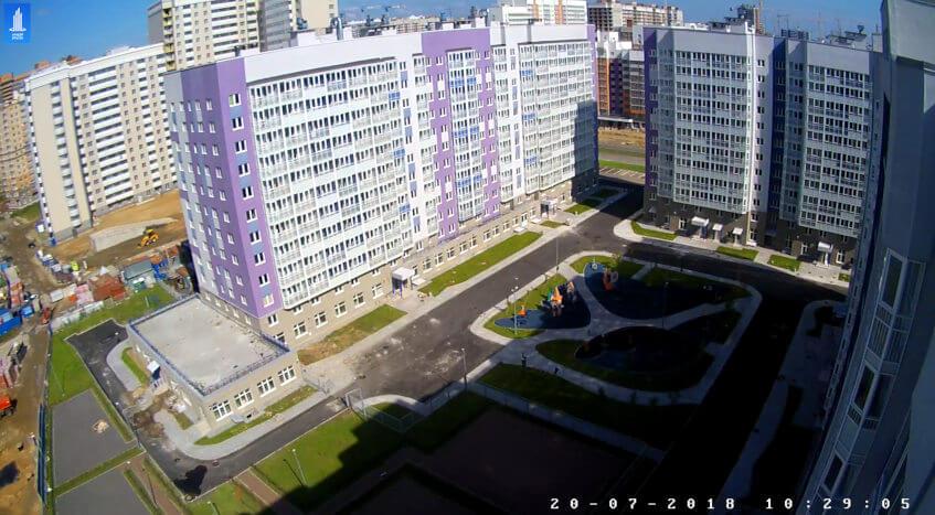 Новостройки Санкт-Петербурга с веб-камерами