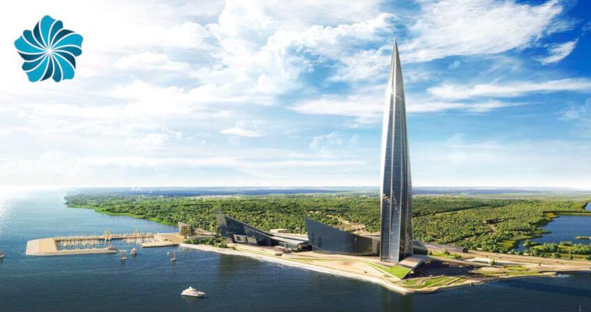 «Лахта Центр» – Веб-камера 4K и видео онлайн-трансляция панорамы Санкт-Петербурга с небоскрёба «Газпром – Лахта Центр» в СПб - 360