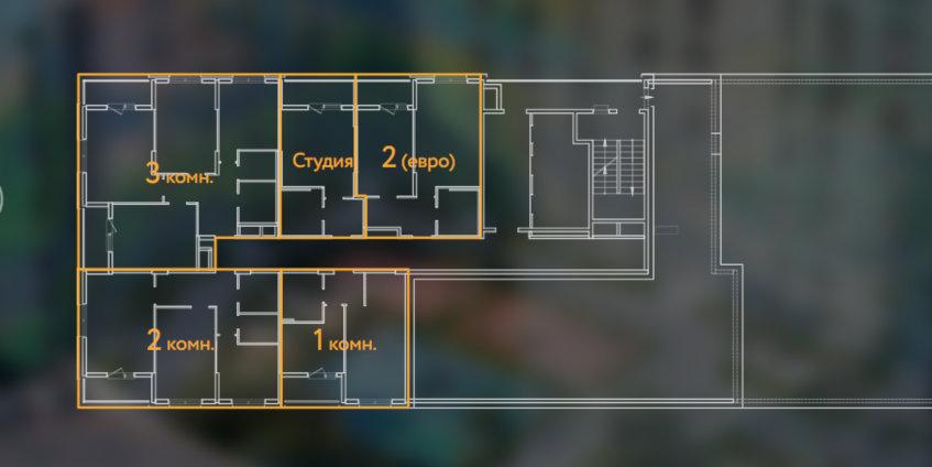 Отзывы о ЖК «Жизнь – Светлый мир» от «Севен Санс» в СПб - план этажа